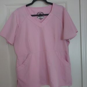 Dickies baby pink scrub top